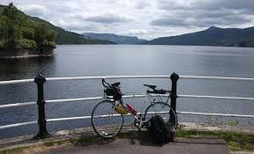 Cycling at Loch Katrine